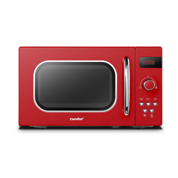 comfee Mikrowelle CMSRO 20di rd, Mikrowelle, 20,00 l, Mikrowelle im Retro-Stil/Retro-Mikrowellenherd mit 8 Auto-Menüs, 5 Leistungsstufen, Express-Kochtaste, 800W, Passionate Red
