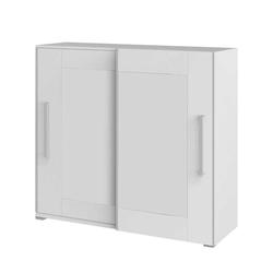 Schiebetüren Aktenschrank in Weiß 160 cm