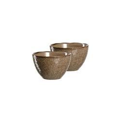 LEONARDO Schale MATERA Keramikschale 15,3 cm beige 2er Set, Keramik, (2-tlg)