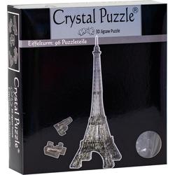 HCM KINZEL 3D-Puzzle Crystal Puzzle, Eiffelturm transparent, 96 Puzzleteile