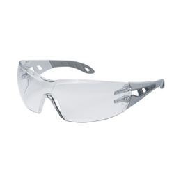 uvex pheos Schutzbrille, kratzfest, beschlagfrei, Moderne Arbeitsschutzbrille im Fashion-Look, Farbe: hellgrau / grau