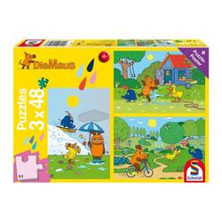 Schmidt Spiele Puzzle Viel Spaß mit der Maus 3x48 Teile, 144 Puzzleteile