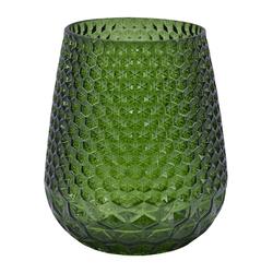 Holmen Carma Vase H: 14 cm Glas Grün