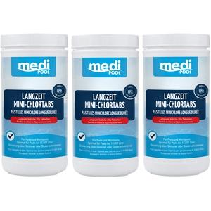 Medipool Langzeit MiniChlorTabs 20g, 3 x 1 KG, Langzeit Mini Chlortabletten