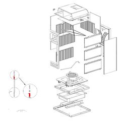 Türschließfeder passend für Kaminofen Gaia / Gaia Forno von La Nordica