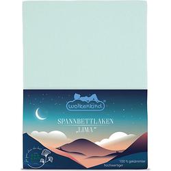 Spannbettlaken aus Bio-Baumwolle LIMA Bettlaken mint Gr. 70 x 140