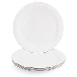 Pappteller, weiß, Ø 23 cm, 8 Stück