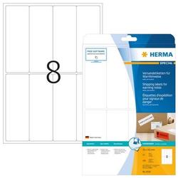 HERMA 8326 Versandetikett/Warnhinweis A4 50x142 mm weiß Papier matt 200 Stück