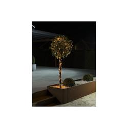 KONSTSMIDE LED-Lichterkette LED Microlichterkette - Outdoor - 6,24m - 40 x Hellweiß - schwarzes Kabel -10m Zuleitung - Trafo