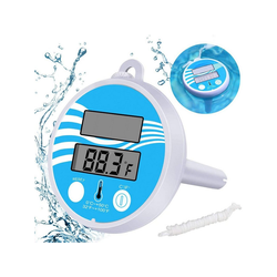 kueatily Badethermometer Digital Solar Pool Thermometer Floating Pool Thermometer Electronic Solar Thermometer Pool Spa Thermometer Floating Solar Thermometer with LCD Display for Outdoor and Indoor Pool and Spa