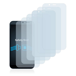 Savvies Schutzfolie für Shiftphones Shift6m, (6 Stück), Folie Schutzfolie klar