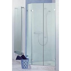 Sprinz Saphir Fünfeck-Duschwand mit 2 Duschtüren und einem Festteil