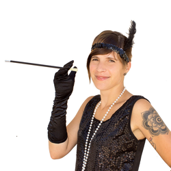 Zigarettenhalter Zigarettenspitze Motto Party Fasching Karneval 1920er Jahre