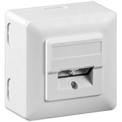 Goobay Netzwerkdose Aufputz CAT 5e 2 Port Weiß