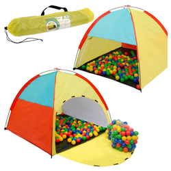 LittleTom Spielzelt Spielset Kinderspielzelt Fabius + 200 Bälle Spielhaus Spielzelt Bällebad