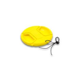 vhbw Kunststoff Objektivdeckel gelb 58mm passend für Kamera Objektiv Canon MP-E 65 mm 2.8 (Lupenobjektiv)