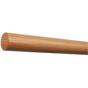 Lärche Holz Handlauf lackiert Ø 42 mm mit bearbeiteten Enden ohne Halter Länge: 1300 mm / 130 cm / 1,3 m Enden:gefast