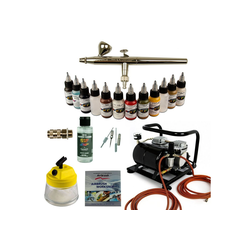 Airbrush-City Druckluftwerkzeug Modellbau Airbrush Set - Ultra Airbrushpistole + Sparmax AC 500 Kompressor - Kit 9008, (1-St)