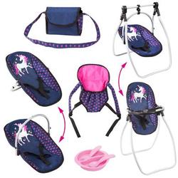 bayer Design Zubehör-Set mit Einhorn, blau/ pink mit Einhorn