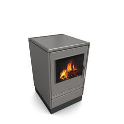 Glutos Holzherd | HHS 02 G | 5,5 kW | metallic