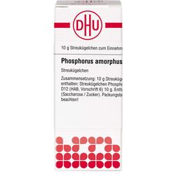PHOSPHORUS AMORPHUS D 12 Globuli 10 g