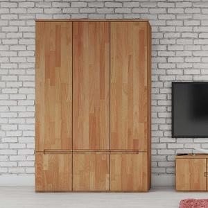 Schlafzimmerschrank aus Buche Massivholz Griffmulden