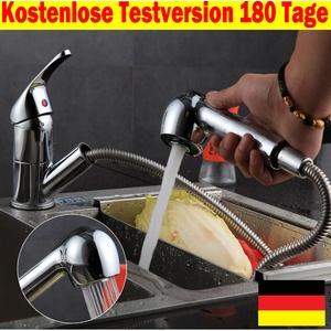 360° Brause Faucet Spültischarmatur ausziehbar Brause Küchenarmatur Wasserhahn