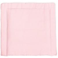 KraftKids Wickelauflage kleine Blätter rosa auf Weiß, extra Weich (500 g/qm), mit antiallergenem Vlies gefüllt 85 cm x 75 cm