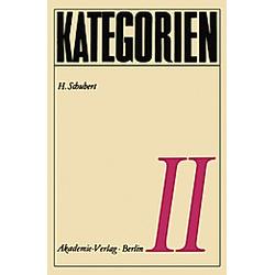 Kategorien II. H. Schubert  - Buch