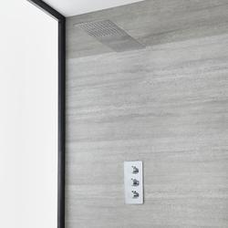 Unterputz-Duschsystem mit Thermostat - mit schmalem Regen/Wasserfall-Duschkopf – Chrom - Arcadia