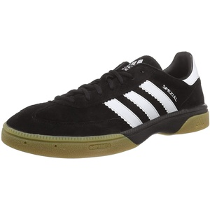 adidas HB Spezial Herren Handballschuhe, Schwarz (Black 1/Running White/Black 1), 41 1/3 EU