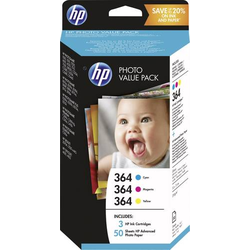 HP 364 Tintenpatrone Original Kombi-Pack Cyan, Magenta, Gelb T9D88EE Druckerpatronen Kombi-Pack