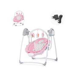 Chipolino Babywippe Babywippe Paradise, Babyschaukel Vibration Musik Spielbogen ab Geburt rosa