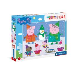 Clementoni® Puzzle Puzzle 104 Teile, Maxi - Peppa Pig, Puzzleteile
