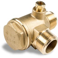 Rückschlagventil mit Anschluss für 6 mm Entlastungsleitung ¾