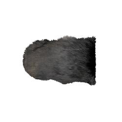 Schaffellteppich Lama in lava, 55 x 80 cm