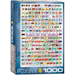 empireposter Puzzle Flaggen der Welt - 1000 Teile Puzzle Format 68x48 cm., 1000 Puzzleteile