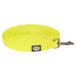 Duvo+ South Langlaufleine PVC eben neongelb, Maße: 15 m / 20 mm