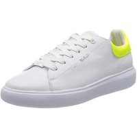 TOM TAILOR Damen 8090601 Sneaker, Mehrfarbig (White-Neon Yellow 02704), 41 EU