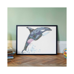 Dot On Malvorlage dot on art - orca, 50 x 70 cm