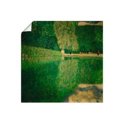 Artland Wandbild Schönbrunner Park (Schönbrunner Landschaft), Wiesen & Bäume (1 Stück) 40 cm x 40 cm