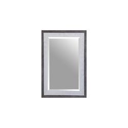 Spiegelprofi Rahmenspiegel Alexa in schwarz/silber, 50 x 70 cm