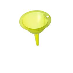 Rotho VULCANO Trichter, grün, Kleiner Trichter aus Kunststoff, Durchmesser: 13,5 cm