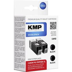 KMP KMP Tintenpatronen 2er-Pack C89D Schwarz 1518,0021 Tintenpatrone