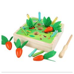 kueatily Lernspielzeug Pädagogische Karotten Ernte Holz Kleinkind Spielzeug Sortierspiel Entwicklung Montessori Spielzeug Vorschule Lernen Feinmotorik Jungen Mädchen Spielzeug gelb