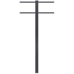 MOCAVI Briefkasten MOCAVI Stand 520 Briefkasten-Ständer für 2 Briefkästen anthrazit-grau (RAL 7016) Standfuß zum Einbetonieren matt