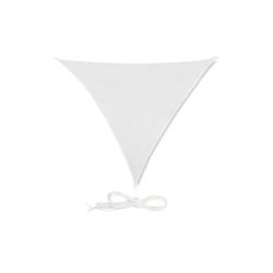 relaxdays Sonnensegel Sonnensegel Dreieck weiß 250 cm x 0.5 cm x 300 cm