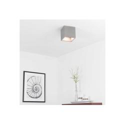 Licht-Erlebnisse Strahler BOLD Betonlampe Deckenleuchte quadratisch kompakt 14cm GU10 Lampe (1-St)