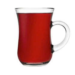Bonilo Tasse, 6x Teegläser von Pasabahce Teeglas mit Henkel Trinkglaser Cay Bardagi Tee Keyif