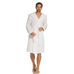Bademantel Thalasso, Vossen, Kimono Kragen weiß XL